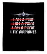 Cute Funny I Fly Airplanes Pilot Joke Fleece Blanket