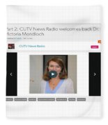 Cutv News Radio Welcomes Back Dr. Victoria Mondloch Fleece Blanket
