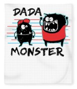 Dada Monster Cute Monster Cartoon For Kids And Dad Light Fleece Blanket