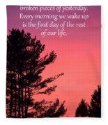 Daily Reminder Fleece Blanket