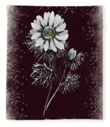 Daisy Sparkle Fleece Blanket
