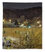 Dale Earnhardt Mural And Christmas Star Fleece Blanket