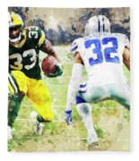 Dallas Cowboys Against Green Bay Packers. Fleece Blanket
