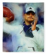 Dallas Cowboys.dak Prescott. Fleece Blanket