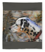 Dalmatian Dog Fleece Blanket