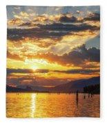 Dalton Point Sunrise Fleece Blanket