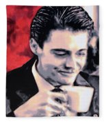 Damn Fine Cup Of Coffee Fleece Blanket