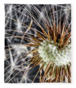 Dandelion Seed Pod Fleece Blanket