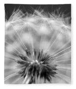 Dandelion Seeds Pod Macro Fleece Blanket