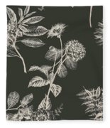 Dark Botanics  Fleece Blanket