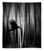 Darker - Raven Fleece Blanket