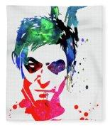 Daryl Watercolor II Fleece Blanket