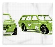 Datsun 510 Comic Strip Fleece Blanket