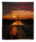 Dc Sunrise Fleece Blanket