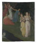 Death And The Maidens  Fleece Blanket