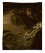 Death Of The Old Man Fleece Blanket