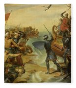 Debarquement De Saint Louis, A Damiette En Egypte, 1249 Fleece Blanket