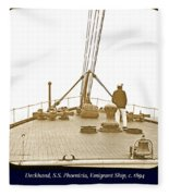 Deckhand, S.s. Phoenicia, Emigrant Ship, C. 1894 Fleece Blanket