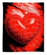 Decorated Romance Fleece Blanket