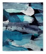 Deep Blue #1 Fleece Blanket