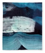 Deep Blue #3 Fleece Blanket