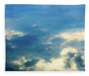 Deep Blue Sky Fleece Blanket