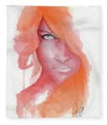 Deep Orange Fleece Blanket