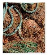 Deep Sea Fishing Nets And Buoys Fleece Blanket