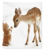 Deer Little Friend Fleece Blanket