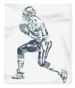Deion Sanders Dallas Cowboys  Pixel Art 5 Fleece Blanket