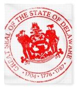 Delaware Seal Stamp Fleece Blanket