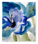 Delicate Blue Square I    Fleece Blanket