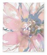 Delicate Flower Burst    Fleece Blanket