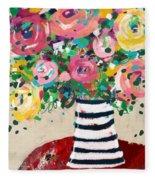 Delightful Bouquet 5- Art By Linda Woods Fleece Blanket