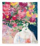 Delightful Bouquet- Art By Linda Woods Fleece Blanket