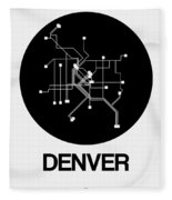 Denver Black Subway Map Fleece Blanket