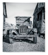 Depression Era Dust Bowl Car Fleece Blanket