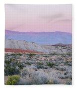 Desert On Fire No.1 Fleece Blanket
