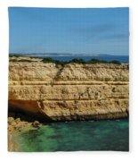 Deserta Beach Scene In Algarve Fleece Blanket