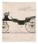 Design For Cabriolet Or Victoria, No. 3459  1875 Fleece Blanket