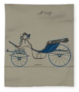 Design For Cabriolet Or Victoria, No. 3719 Brewster And Co. American, New York Fleece Blanket