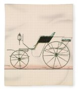 Design For Driving Or Road Phaeton Unnumbered Brewster And Co. American, New York Fleece Blanket