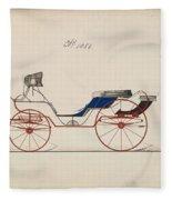 Design For Eight Spring Victoria, No. 1056   B. Wegers American, Active 1850-75 Fleece Blanket