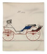Design For Eight Spring Victoria, No. 1056 Brewster And Co. American, New York Fleece Blanket