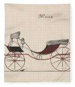 Design For Eight Spring Victoria, No. 1104  1850-74 Fleece Blanket