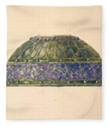 Design For Floral Lamp  Louis Comfort Tiffany American, New York 1848-1933 New York Fleece Blanket