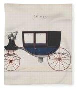 Design For Glass Panel Coach, No. 3133  1875 Fleece Blanket