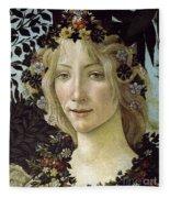 Detail From The Primavera, Circa 1478, Tempera On Panel Fleece Blanket