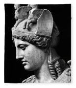 Detail Of The Face Of Athena Farnese Fleece Blanket