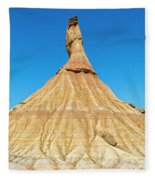 The Desert Of The Royal Bardenas Fleece Blanket